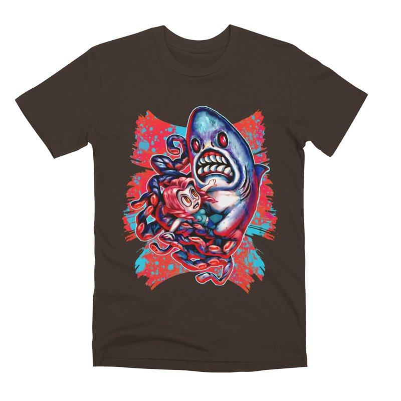 Sharktopus Attack! Men's Premium T-Shirt by villainmazk's Artist Shop