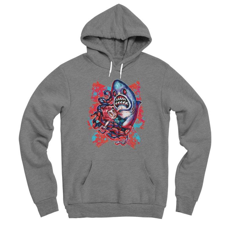 Sharktopus Attack! Women's Sponge Fleece Pullover Hoody by villainmazk's Artist Shop