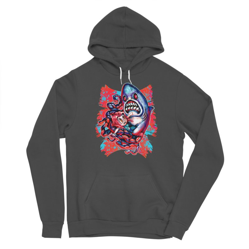 Sharktopus Attack! Men's Sponge Fleece Pullover Hoody by villainmazk's Artist Shop