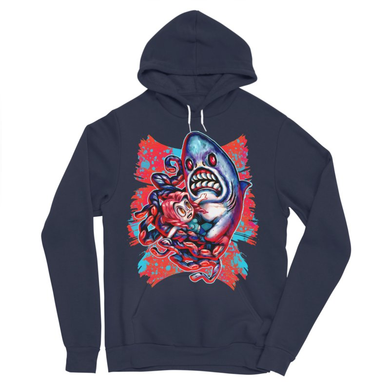 Sharktopus Attack! Women's Sponge Fleece Pullover Hoody by villainmazk's Artist Shop
