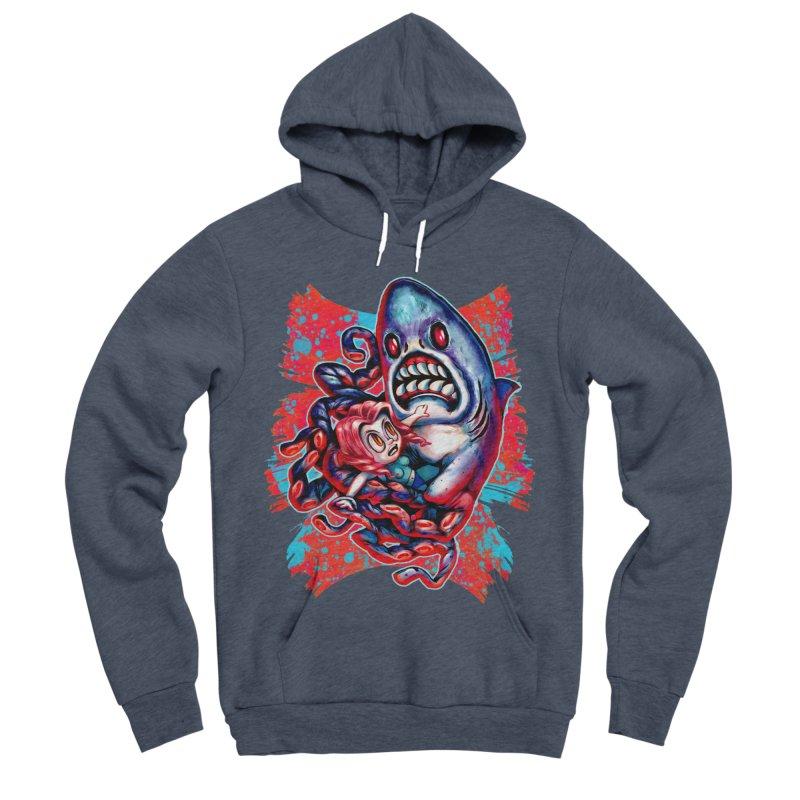 Sharktopus Attack! Men's Sponge Fleece Pullover Hoody by villainmazk's Artist Shop