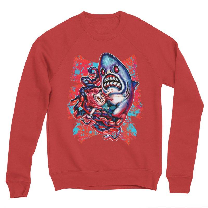 Sharktopus Attack! Women's Sponge Fleece Sweatshirt by villainmazk's Artist Shop