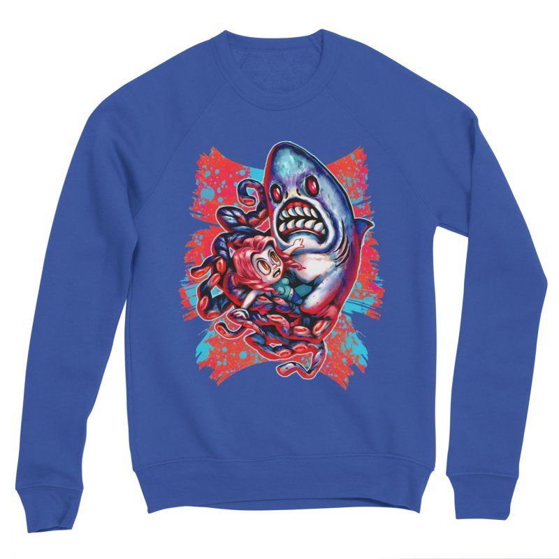 Sharktopus Attack! Men's Sponge Fleece Sweatshirt by villainmazk's Artist Shop