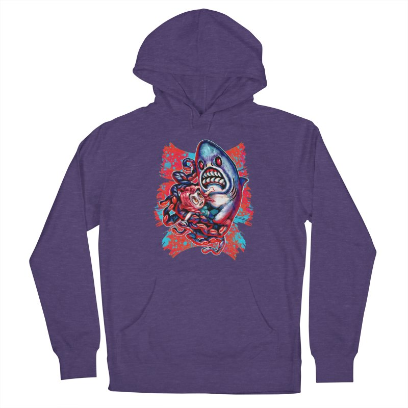 Sharktopus Attack! Women's French Terry Pullover Hoody by villainmazk's Artist Shop