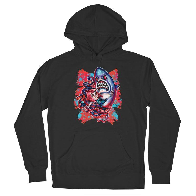 Sharktopus Attack! Men's French Terry Pullover Hoody by villainmazk's Artist Shop
