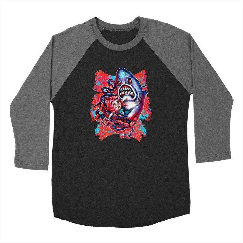 Sharktopus Attack! Women's Baseball Triblend Longsleeve T-Shirt by villainmazk's Artist Shop