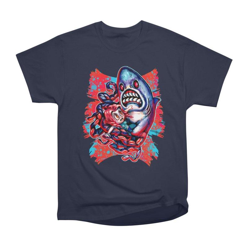 Sharktopus Attack! Women's Heavyweight Unisex T-Shirt by villainmazk's Artist Shop