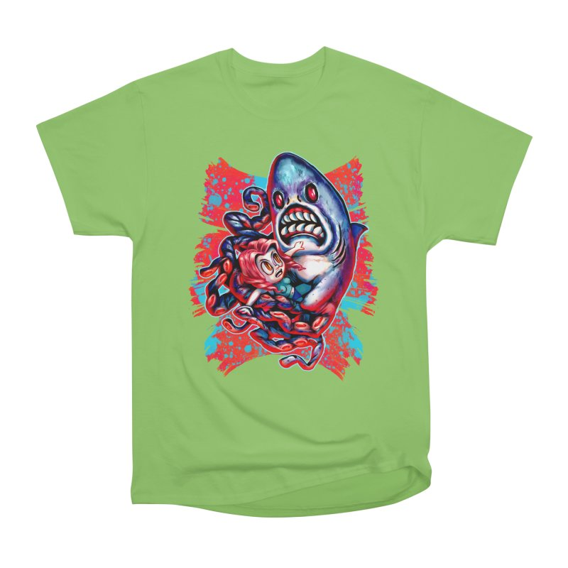 Sharktopus Attack! Men's Heavyweight T-Shirt by villainmazk's Artist Shop