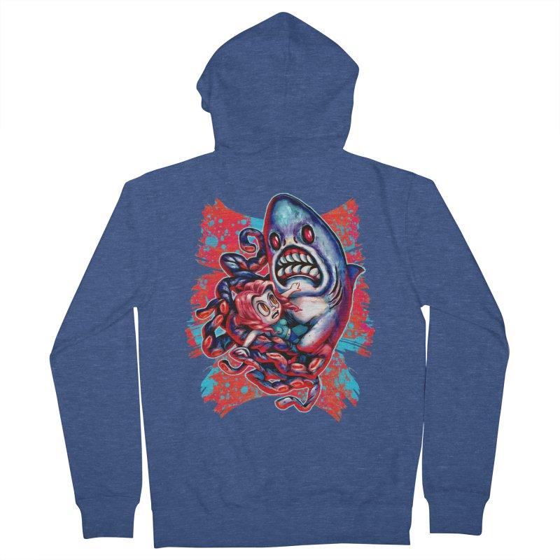 Sharktopus Attack! Women's French Terry Zip-Up Hoody by villainmazk's Artist Shop