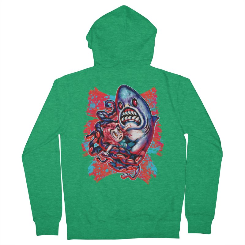 Sharktopus Attack! Men's Zip-Up Hoody by villainmazk's Artist Shop