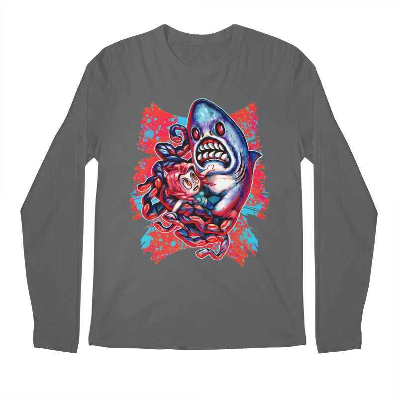 Sharktopus Attack! Men's Longsleeve T-Shirt by villainmazk's Artist Shop