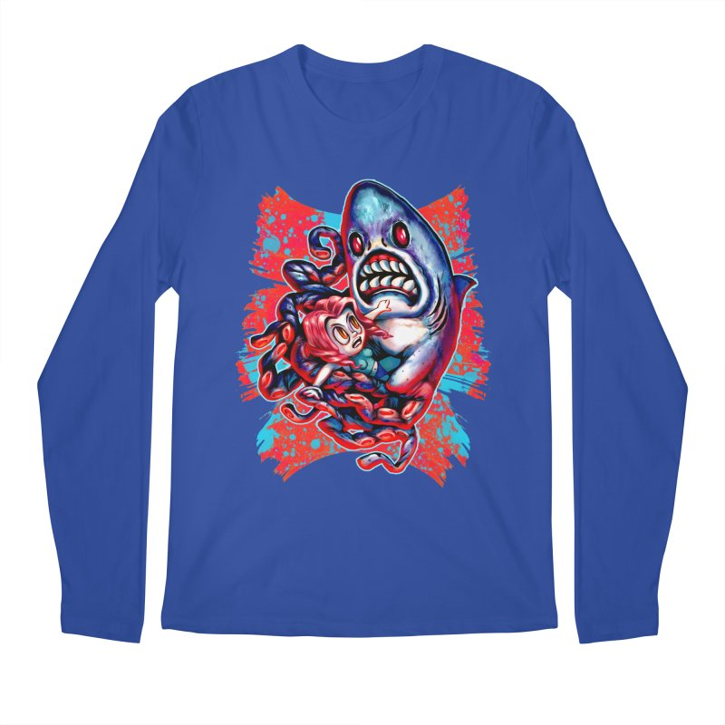 Sharktopus Attack! Men's Regular Longsleeve T-Shirt by villainmazk's Artist Shop