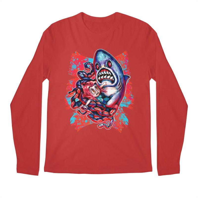 Sharktopus Attack! Men's Regular Longsleeve T-Shirt by villainmazk's Artist Shop