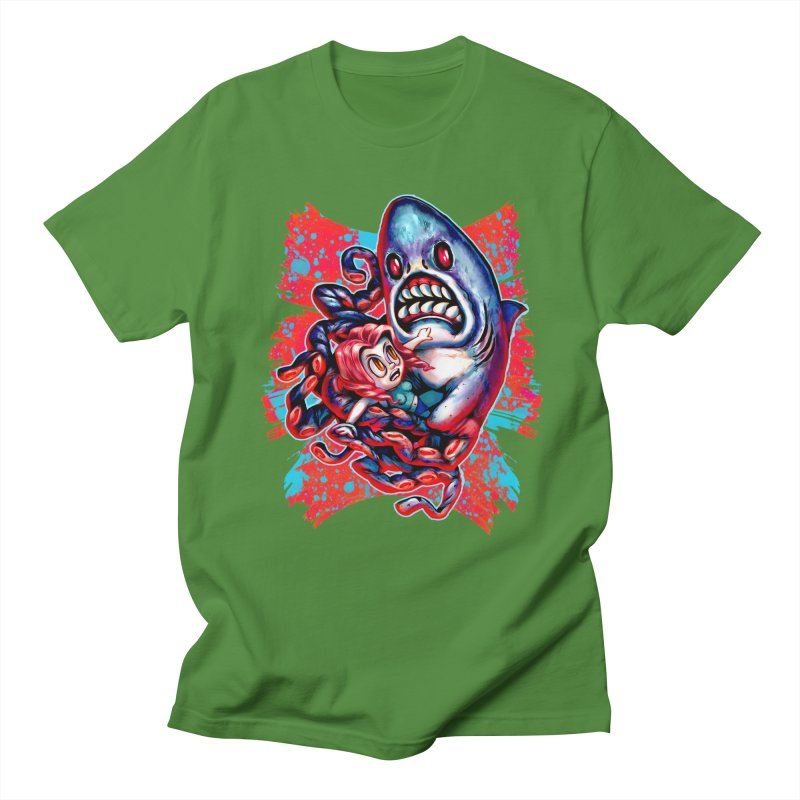 Sharktopus Attack! Men's Regular T-Shirt by villainmazk's Artist Shop