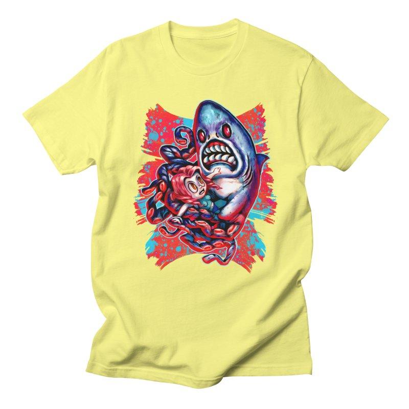 Sharktopus Attack! Men's Regular T-Shirt by villainmazk's Artist Shop