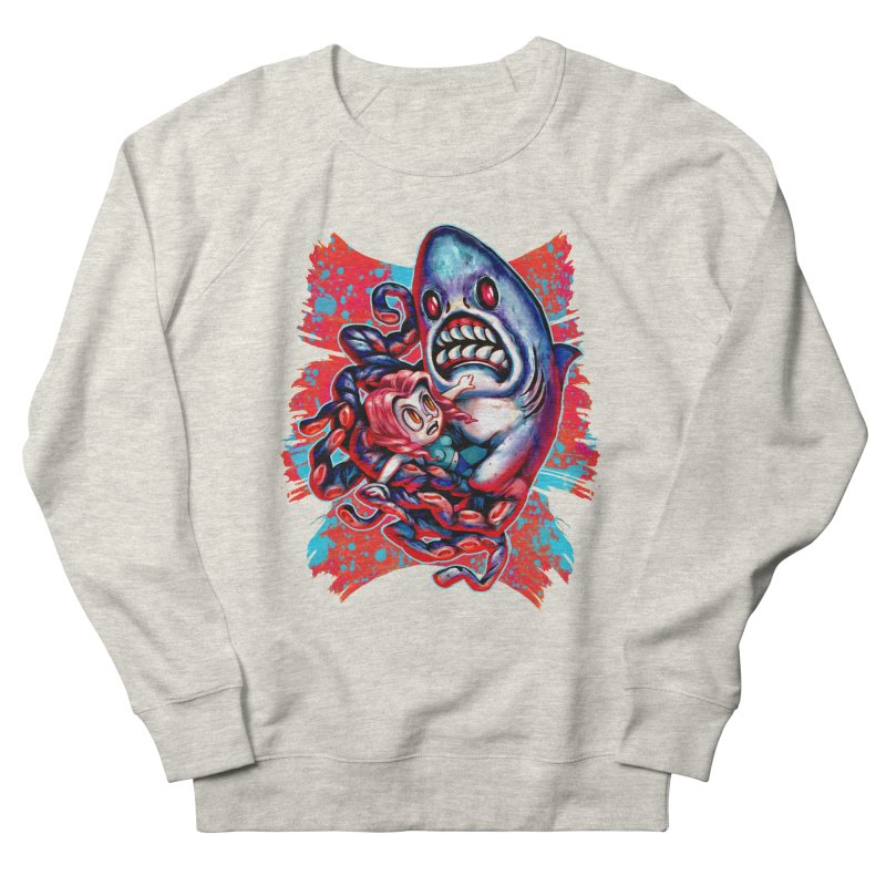 Sharktopus Attack! Women's French Terry Sweatshirt by villainmazk's Artist Shop