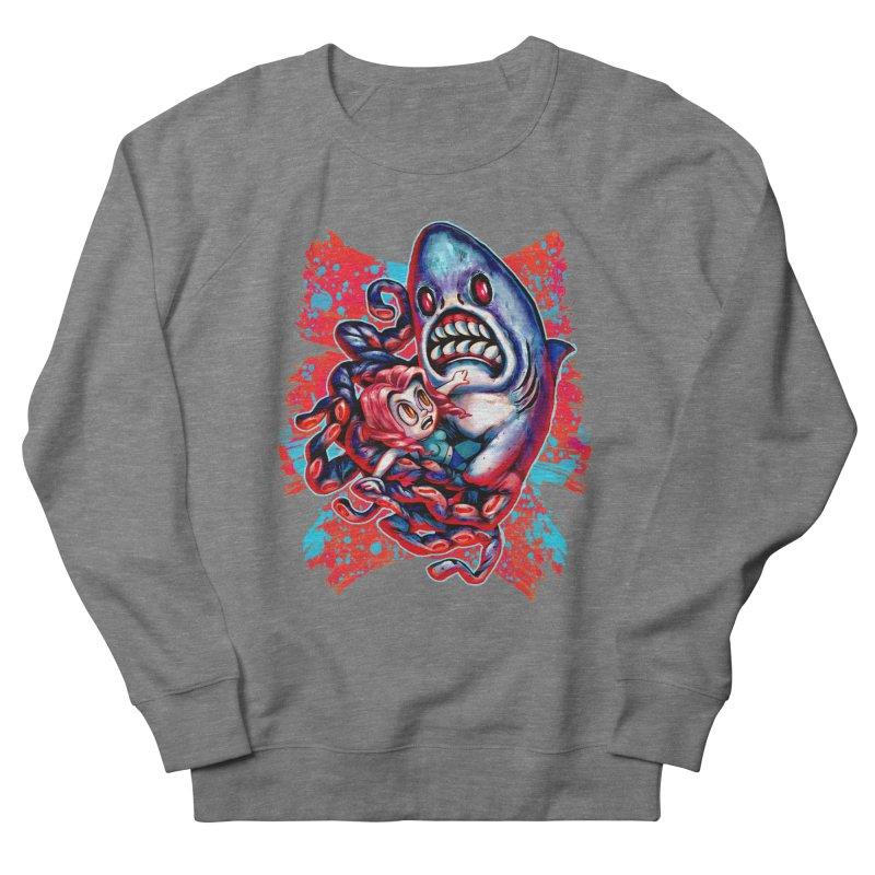 Sharktopus Attack! Men's French Terry Sweatshirt by villainmazk's Artist Shop