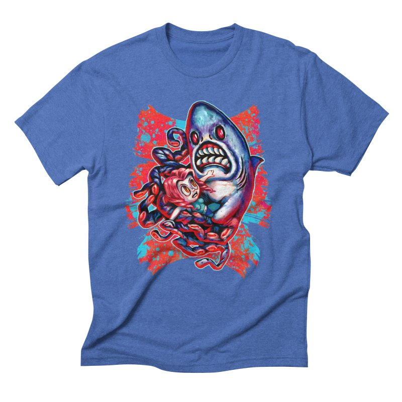 Sharktopus Attack! Men's T-Shirt by villainmazk's Artist Shop