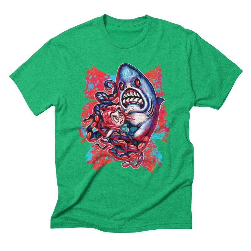 Sharktopus Attack! Men's Triblend T-Shirt by villainmazk's Artist Shop