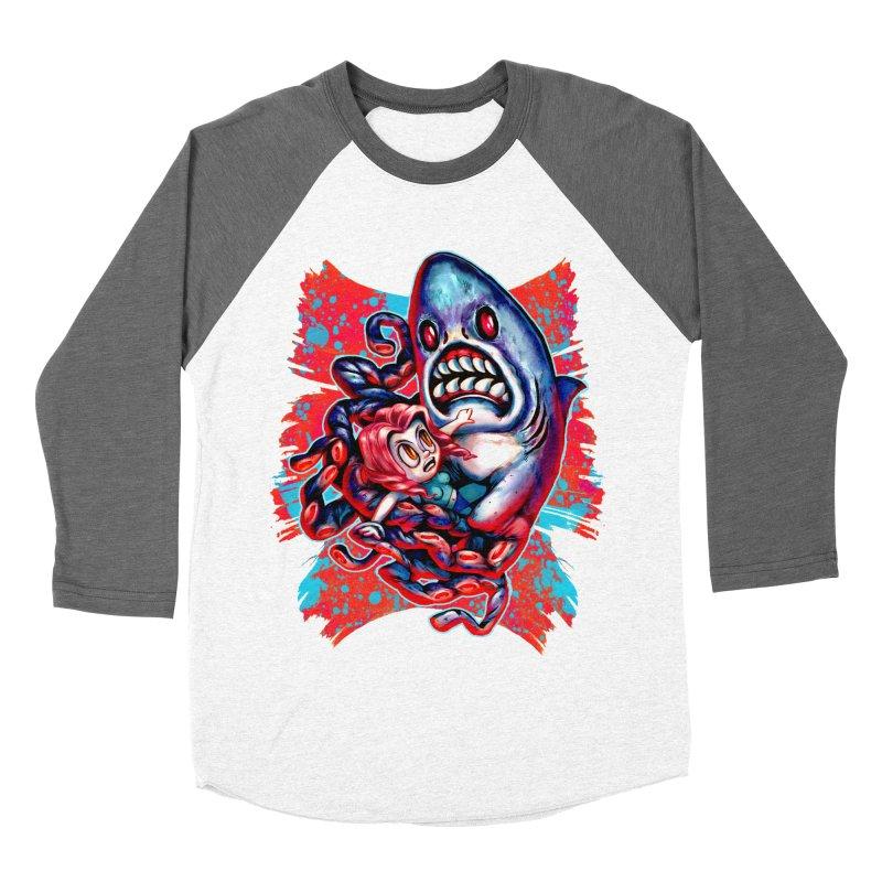 Sharktopus Attack! Women's Longsleeve T-Shirt by villainmazk's Artist Shop
