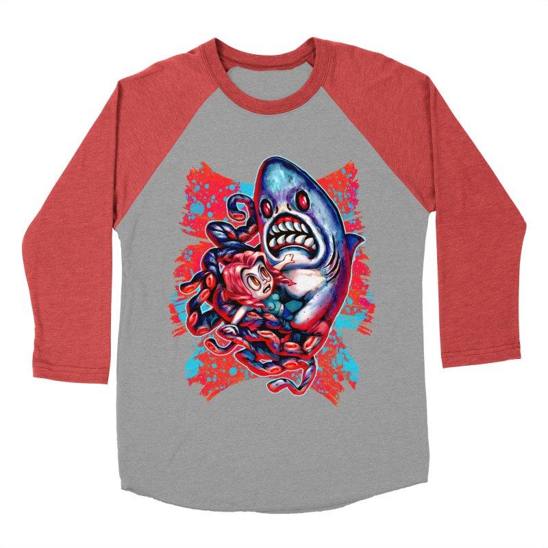 Sharktopus Attack! Men's Longsleeve T-Shirt by villainmazk's Artist Shop