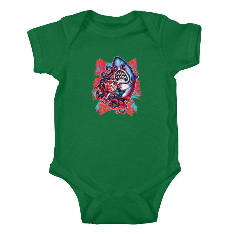 Sharktopus Attack! Kids Baby Bodysuit by villainmazk's Artist Shop