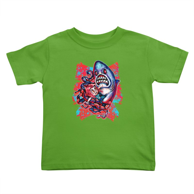 Sharktopus Attack! Kids Toddler T-Shirt by villainmazk's Artist Shop