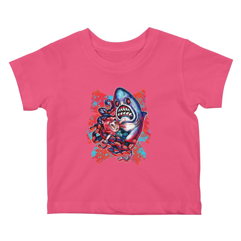 Sharktopus Attack! Kids Baby T-Shirt by villainmazk's Artist Shop