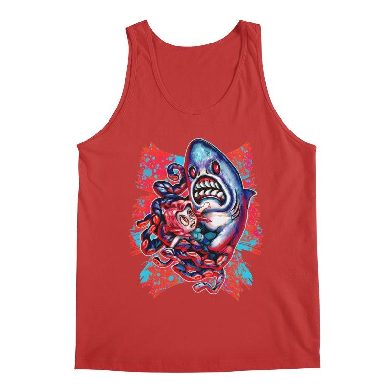 Sharktopus Attack! Men's Regular Tank by villainmazk's Artist Shop