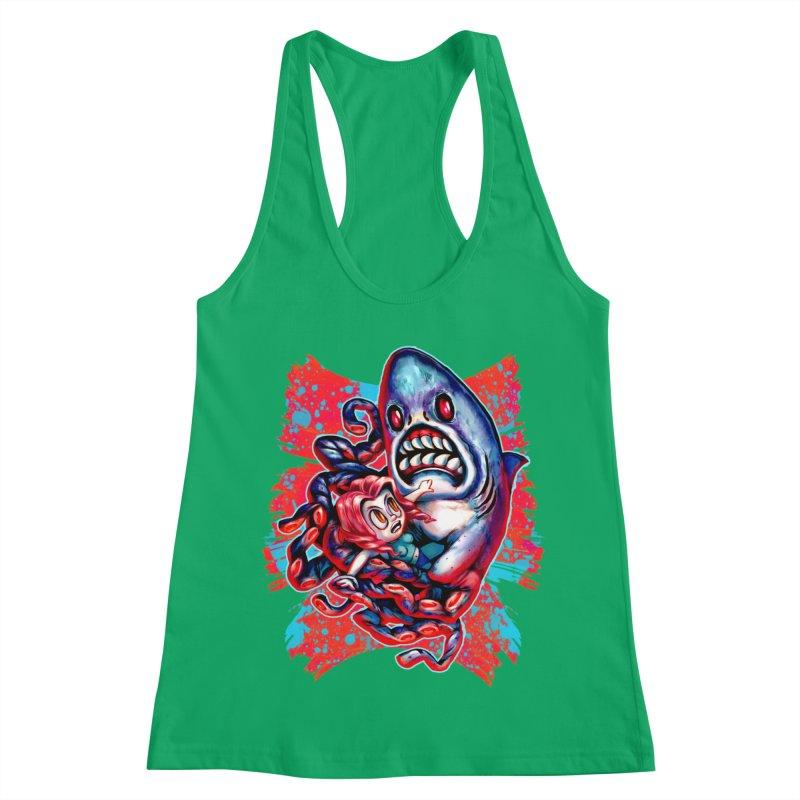 Sharktopus Attack! Women's Tank by villainmazk's Artist Shop
