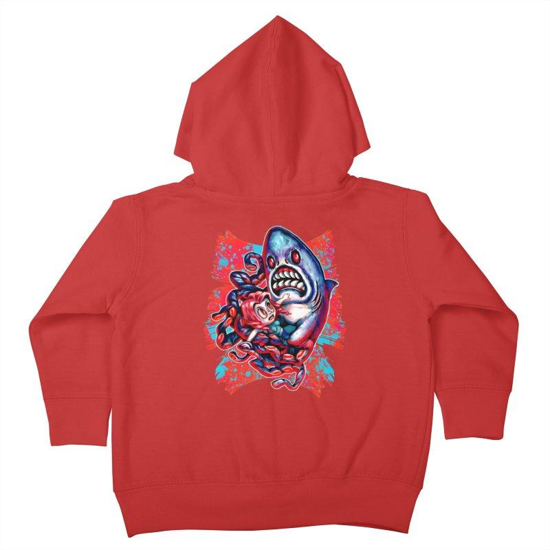 Sharktopus Attack! Kids Toddler Zip-Up Hoody by villainmazk's Artist Shop