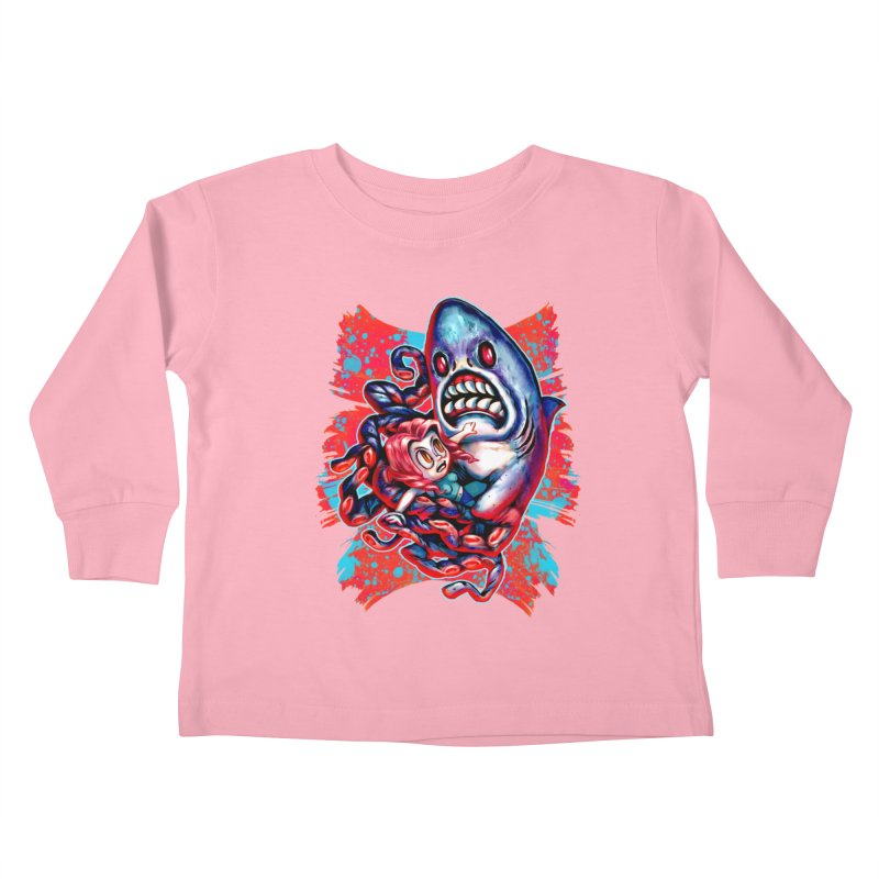 Sharktopus Attack! Kids Toddler Longsleeve T-Shirt by villainmazk's Artist Shop