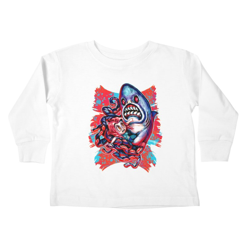 Sharktopus Attack! Kids Toddler Longsleeve T-Shirt by villainmazk's Artist Shop