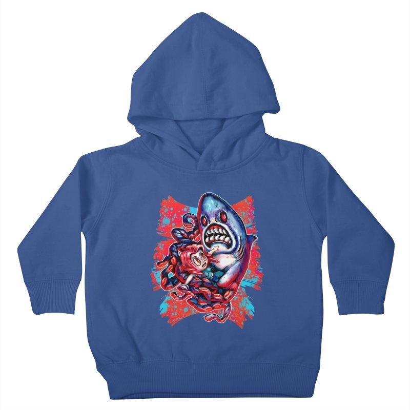 Sharktopus Attack! Kids Toddler Pullover Hoody by villainmazk's Artist Shop