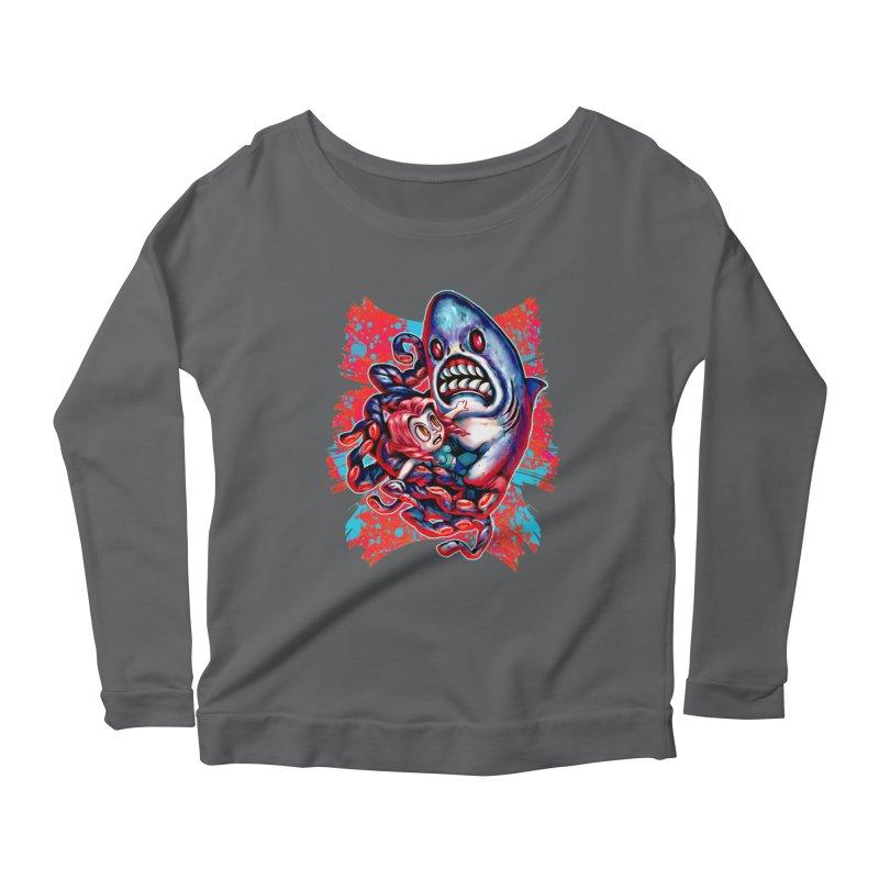 Sharktopus Attack! Women's Scoop Neck Longsleeve T-Shirt by villainmazk's Artist Shop