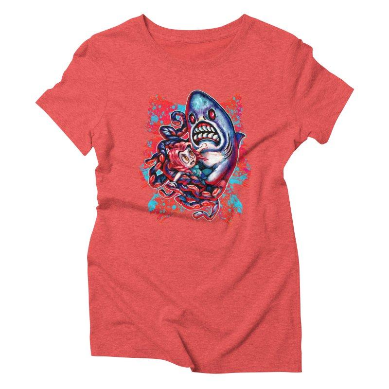 Sharktopus Attack! Women's Triblend T-Shirt by villainmazk's Artist Shop
