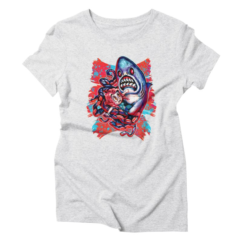 Sharktopus Attack! Women's T-Shirt by villainmazk's Artist Shop