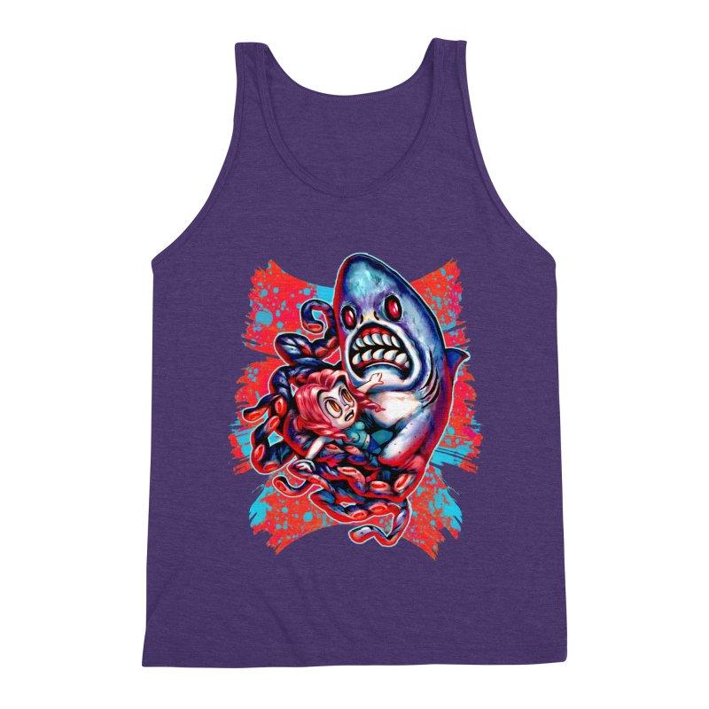 Sharktopus Attack! Men's Triblend Tank by villainmazk's Artist Shop