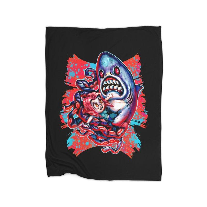 Sharktopus Attack! Home Fleece Blanket Blanket by villainmazk's Artist Shop