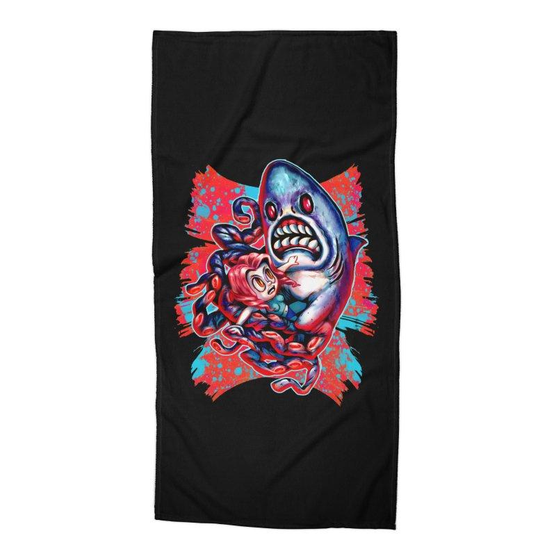 Sharktopus Attack! Accessories Beach Towel by villainmazk's Artist Shop
