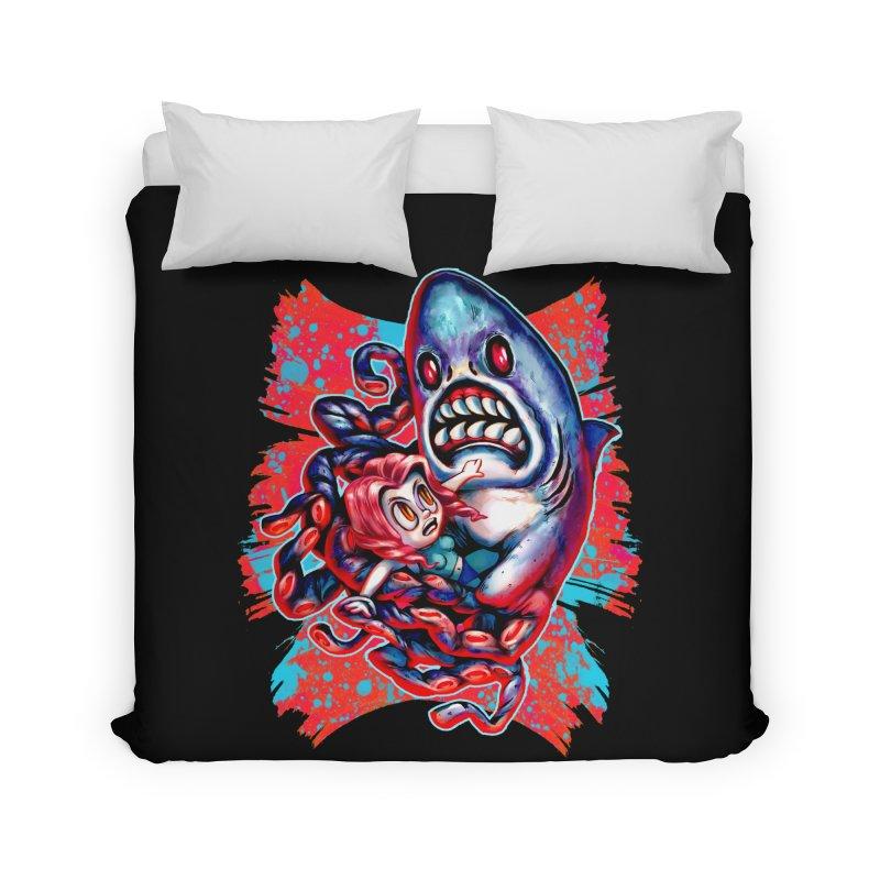 Sharktopus Attack! Home Duvet by villainmazk's Artist Shop
