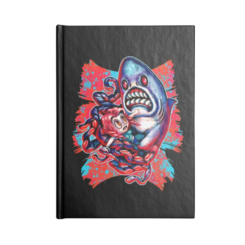 Sharktopus Attack! Accessories Blank Journal Notebook by villainmazk's Artist Shop