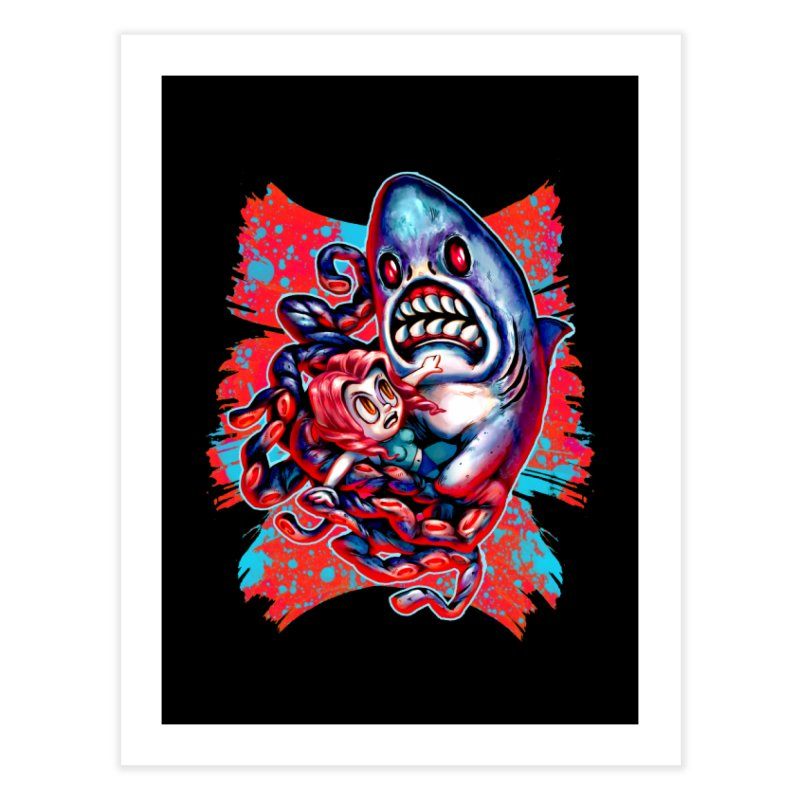 Sharktopus Attack! Home Fine Art Print by villainmazk's Artist Shop