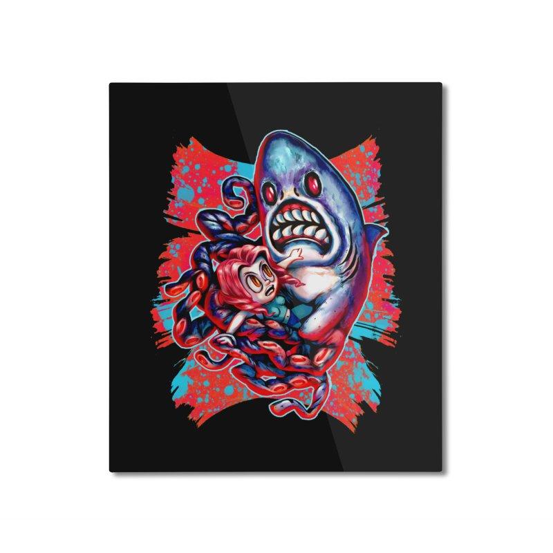 Sharktopus Attack! Home Mounted Aluminum Print by villainmazk's Artist Shop