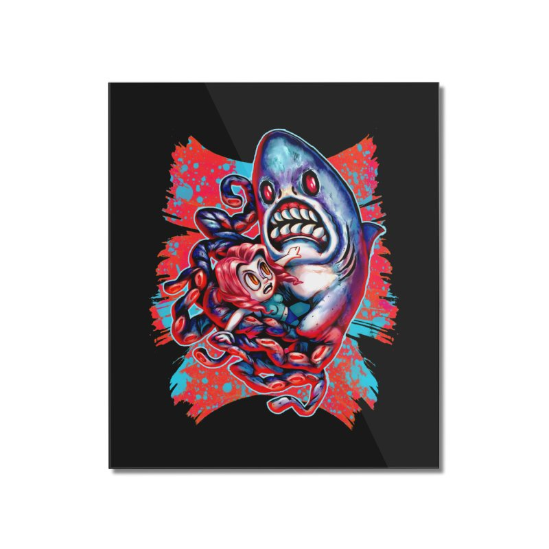 Sharktopus Attack! Home Mounted Acrylic Print by villainmazk's Artist Shop