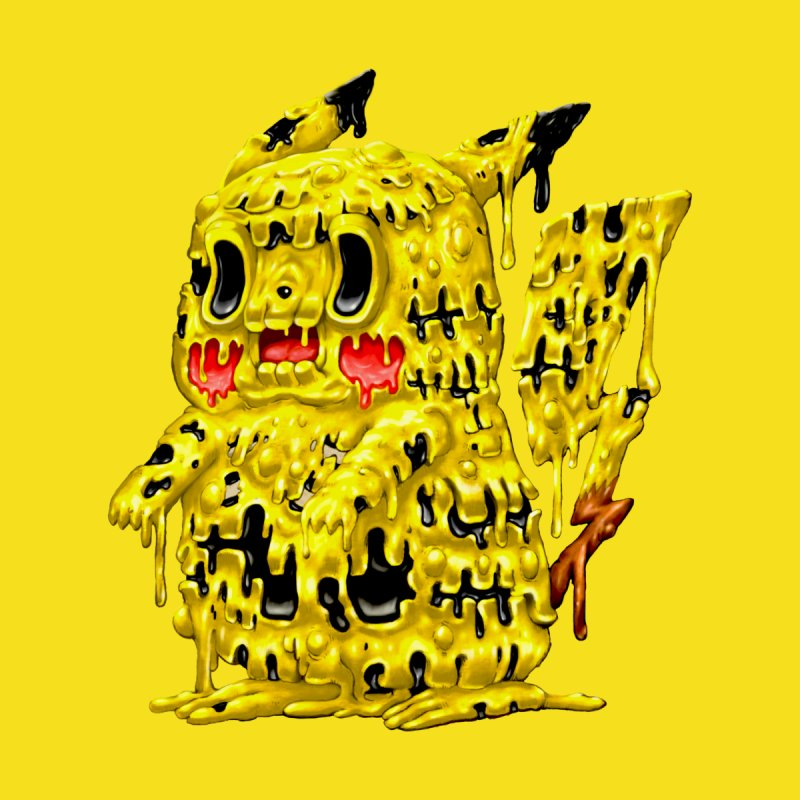 Melting Yellow Monster Accessories Skateboard by villainmazk's Artist Shop