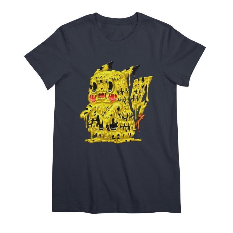 Melting Yellow Monster Women's Premium T-Shirt by villainmazk's Artist Shop