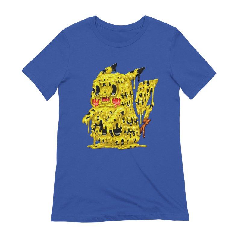 Melting Yellow Monster Women's Extra Soft T-Shirt by villainmazk's Artist Shop