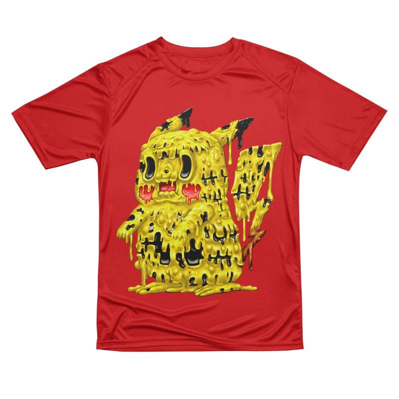 Melting Yellow Monster Women's Performance Unisex T-Shirt by villainmazk's Artist Shop