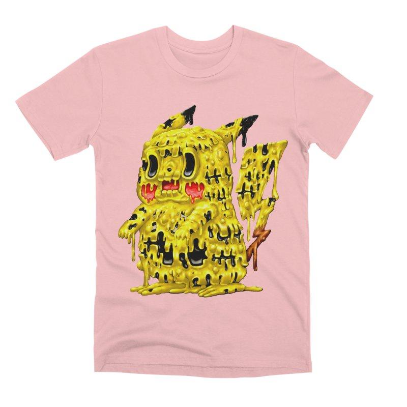 Melting Yellow Monster Men's Premium T-Shirt by villainmazk's Artist Shop